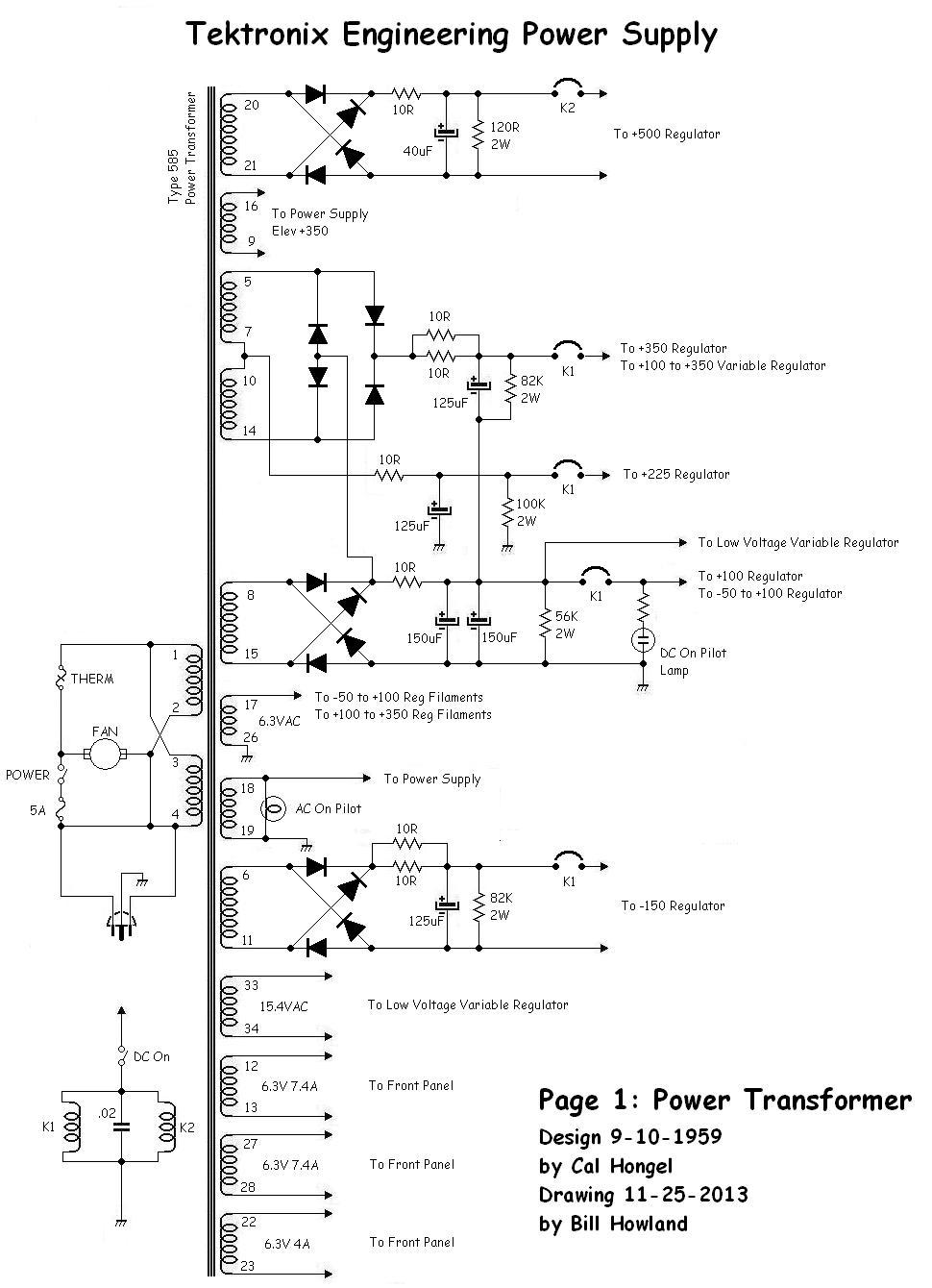 tektronix engineering power supply