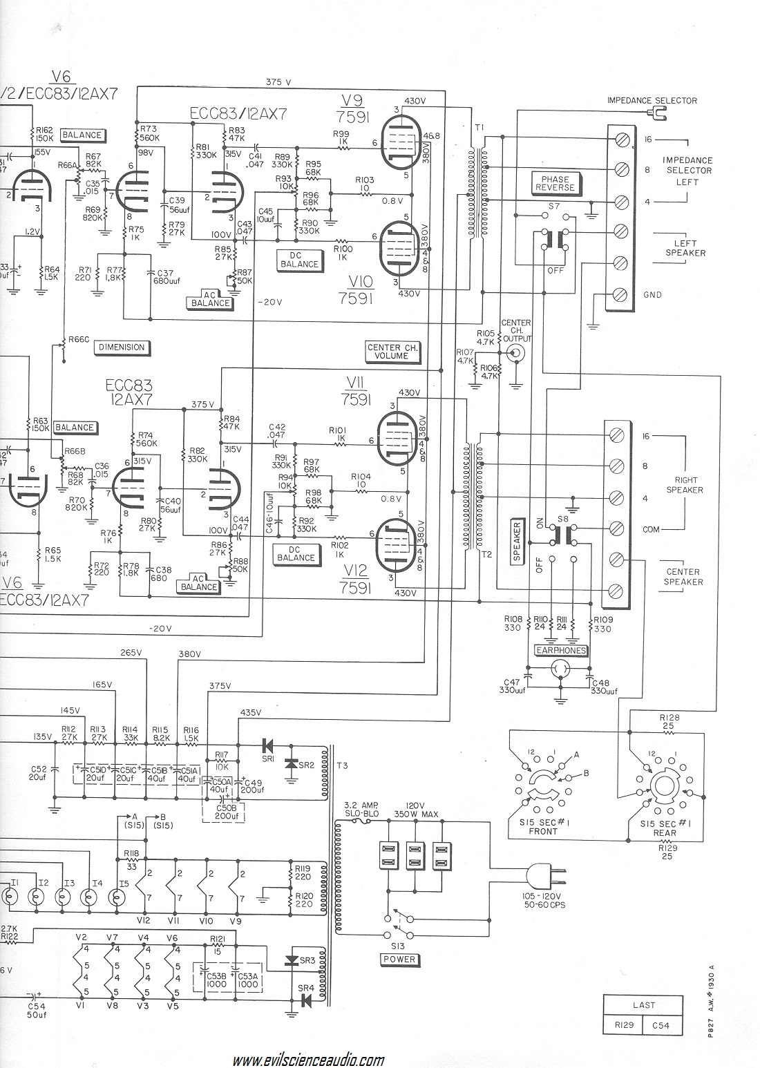 Hi-Fi Schematics | Evil Science Audio