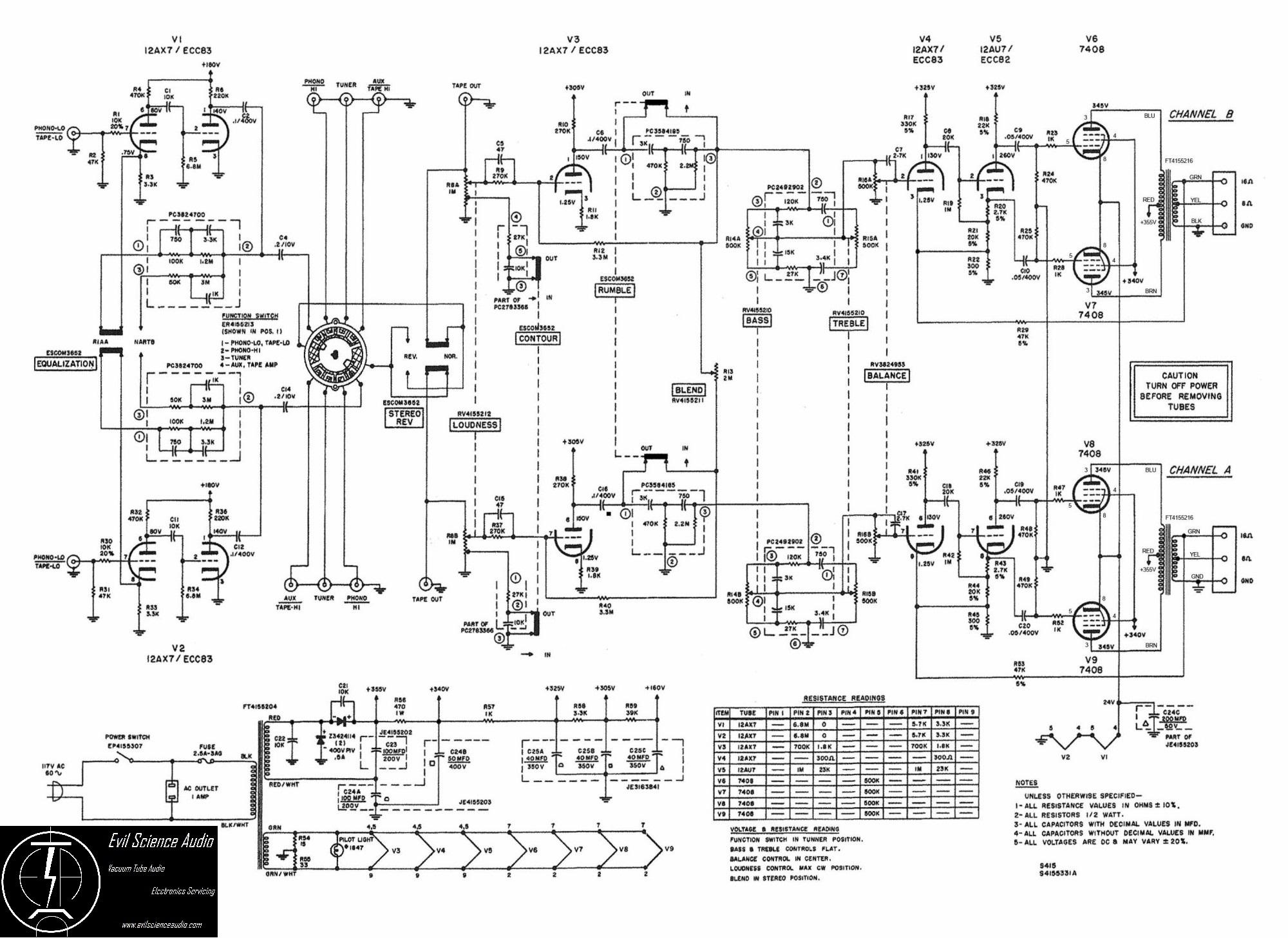 Hi-Fi Schematics | Evil Science Audio