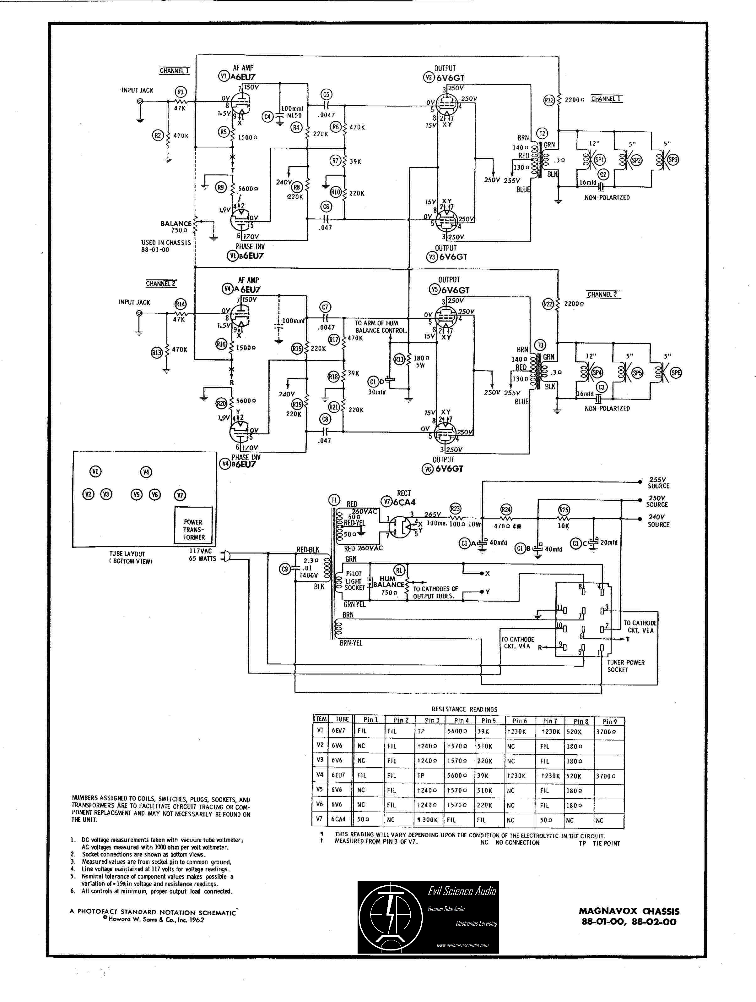 Hi-Fi Schematics | Evil Science Audio on